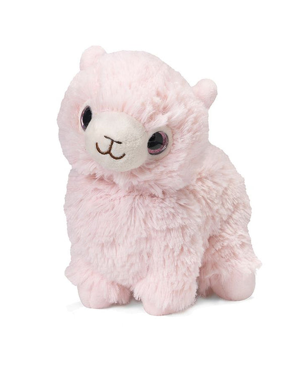 Warmies CPJ- LLA Pink Llama Jr plush pink microwavable llama with french lavender scent
