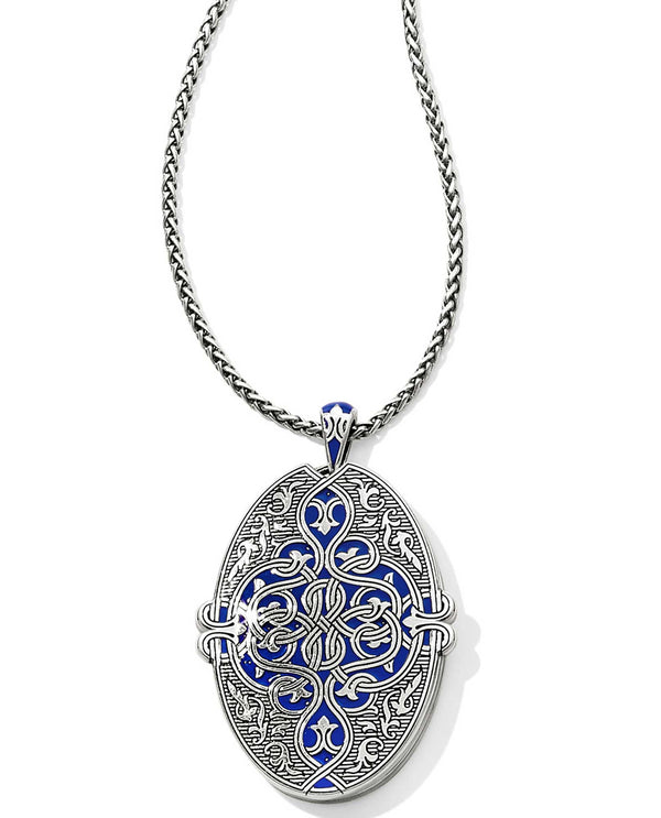 Brighton JM1493 Royal Brocade Large Oval Double Locket
