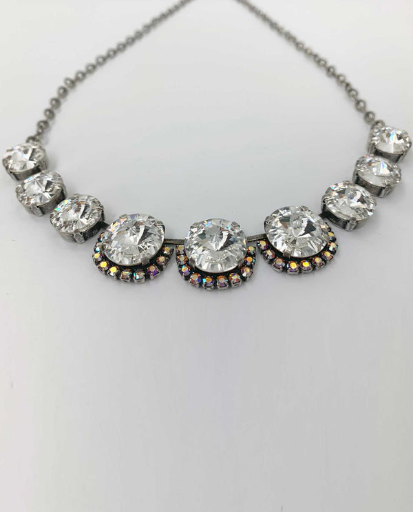 Vickie Ab Clear Necklace BY RACHEL MARIE DESIGNS