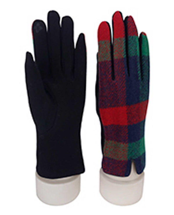 69317 Red Plaid Texting Gloves