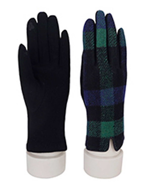69317 Royal Plaid Texting Gloves