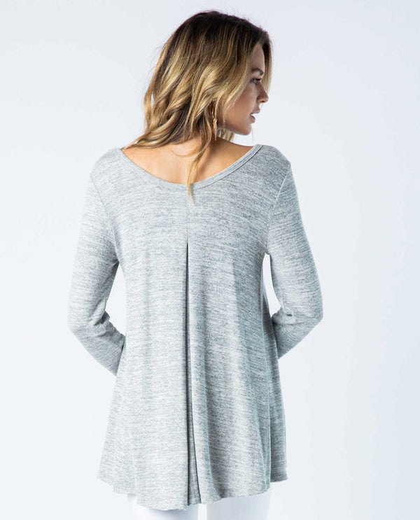 Vocal IM1420L Long Sleeve Top with Studs heather gray