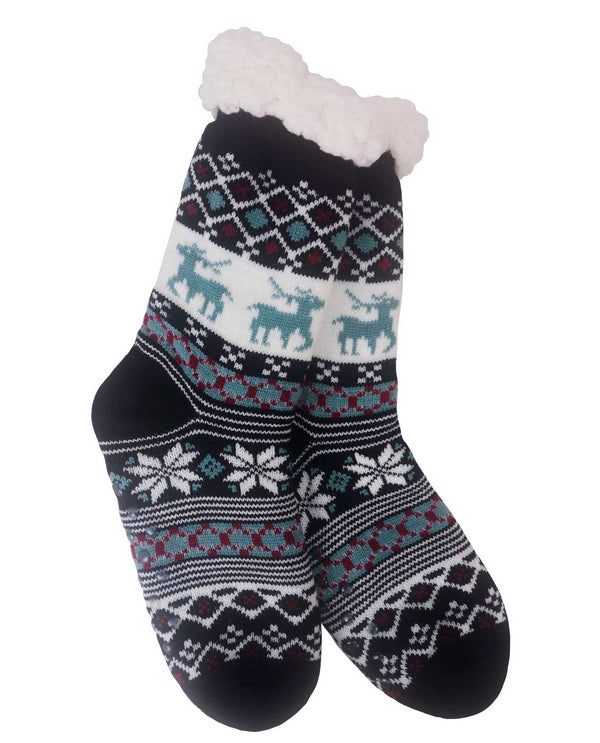 69269 Snowflake Slipper Socks Mint