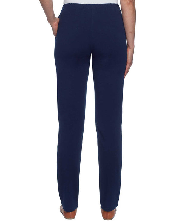 Ruby Rd 94300 French Terry Pant indigo