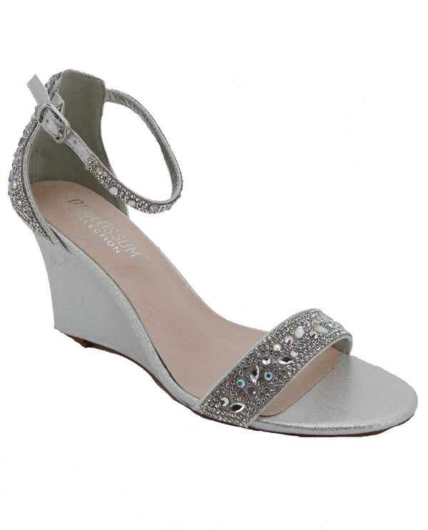 De Blossom Collection EMMA-19 Shimmer Wedge Sandal