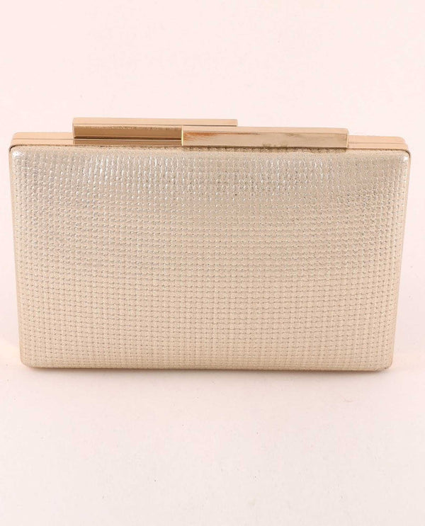 Gold Embossed Evening Bag