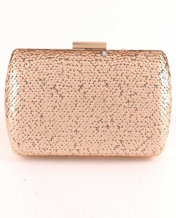 Champagne Sequin Evening Bag