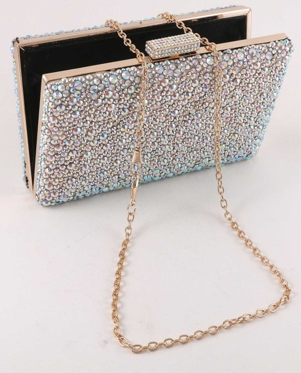 Gold A/B Stone Minaudier Evening Bag
