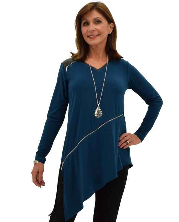 Sympli 23145-3 Frame Angle Tunic, Long Sleeve