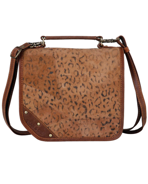 Vaan and Co VB19P541 Casey Cheetah Bag