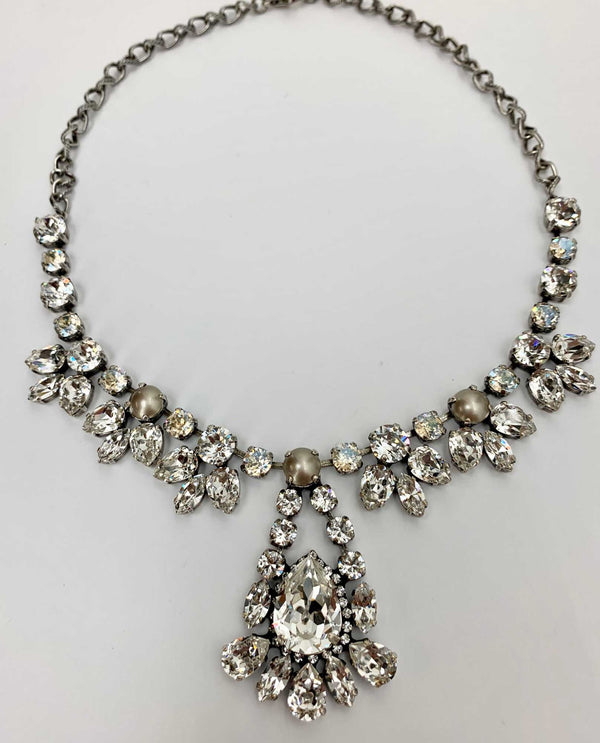 Sylvia Cluster Drop By Rachel Marie Designs Platinum