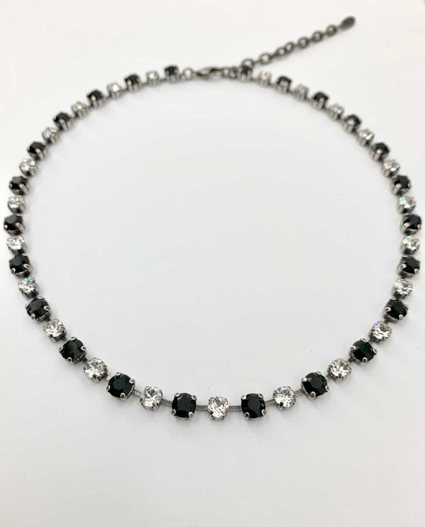 Kendra Necklace Jet Clear By Rachel Marie Designs