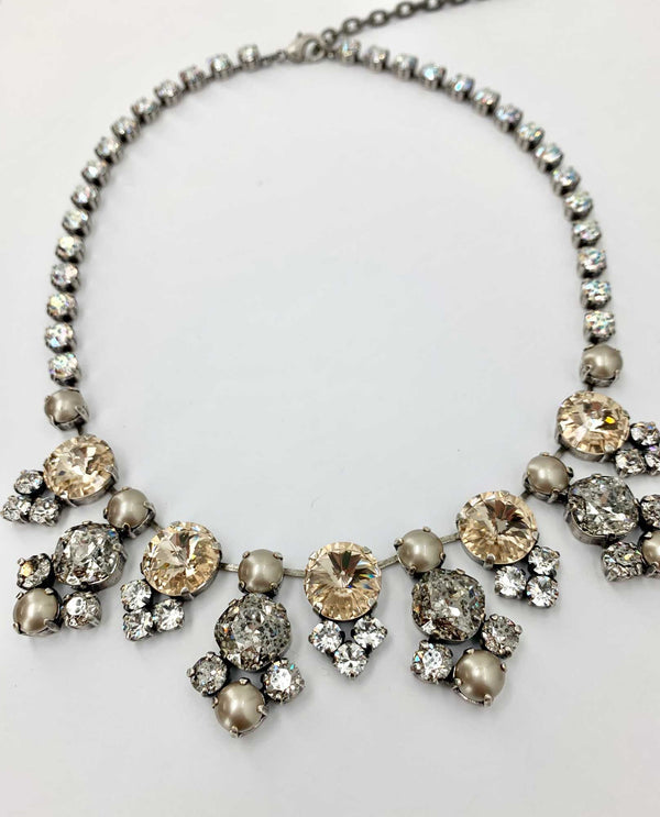 Vanessa Lux Necklace By Rachel Marie Designs light silk