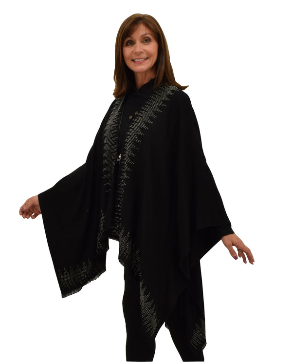 JC18062 Oracle Cape with Stones Black