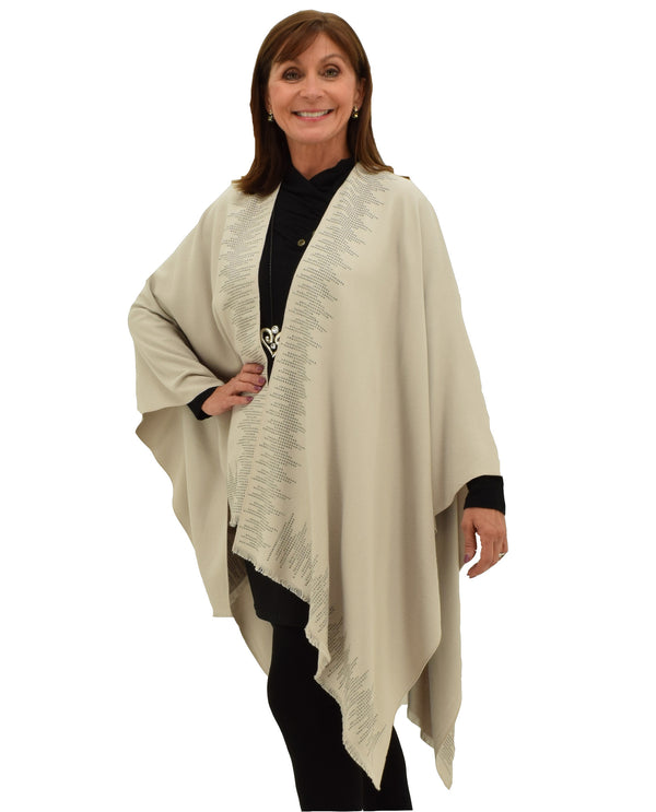 JC18062 Oracle Cape with Stones Khaki
