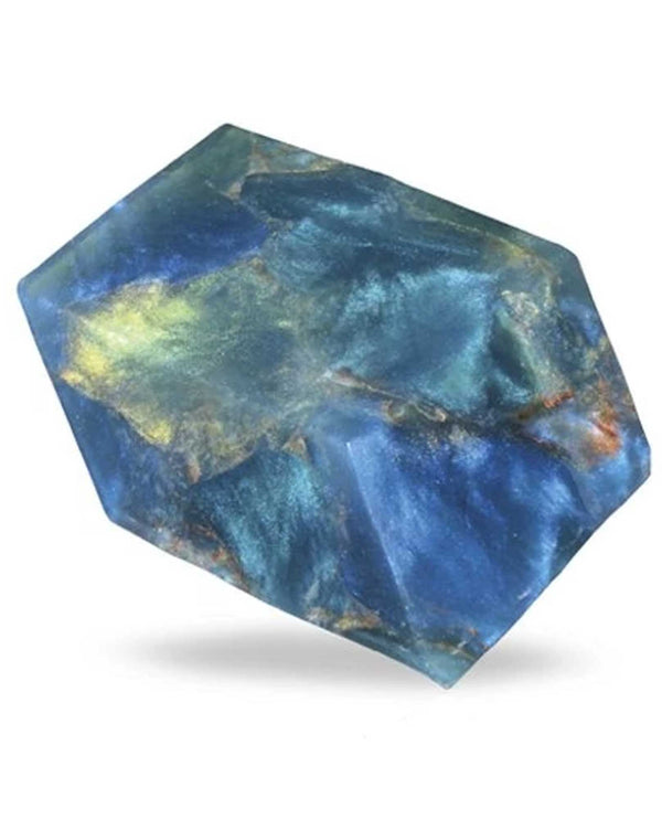 Soap Rocks Blue Heaven Moonstone 6 oz soap that is made to look like a precious stone