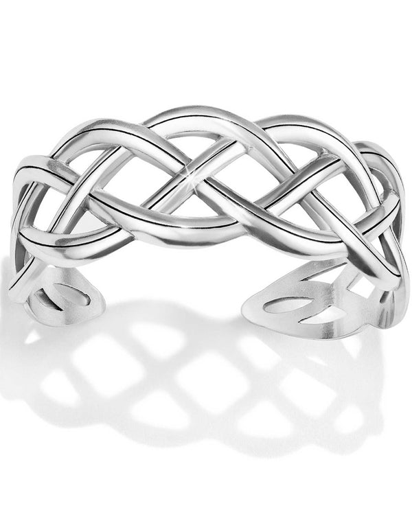 Brighton JF6990 Interlok Braid Cuff Bracelet