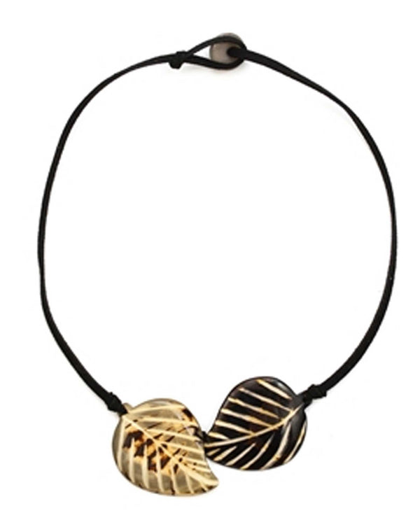 Organic Tagua SC300-ON-CO Napo Necklace Black Combo