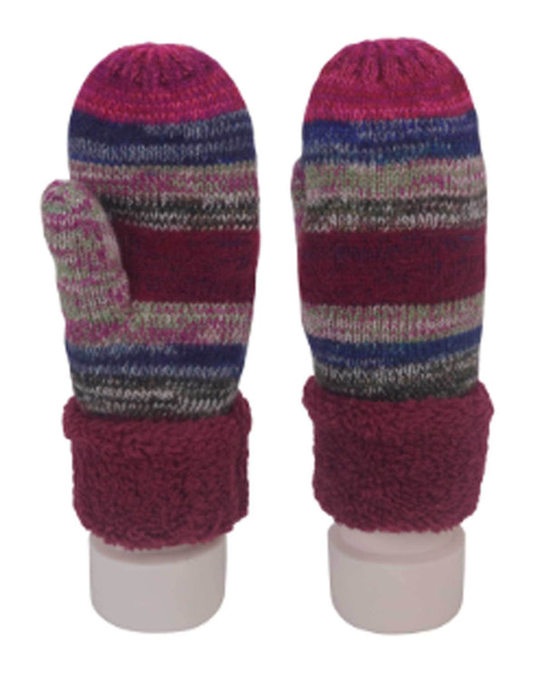 69282 Wine Giving Mittens Recycled Yarn