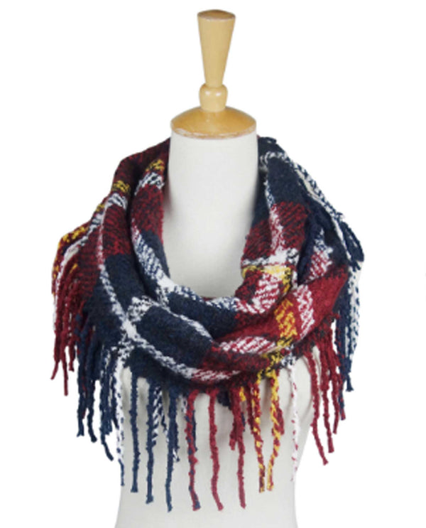67173 Liverpool Plaid Infinity Scarf