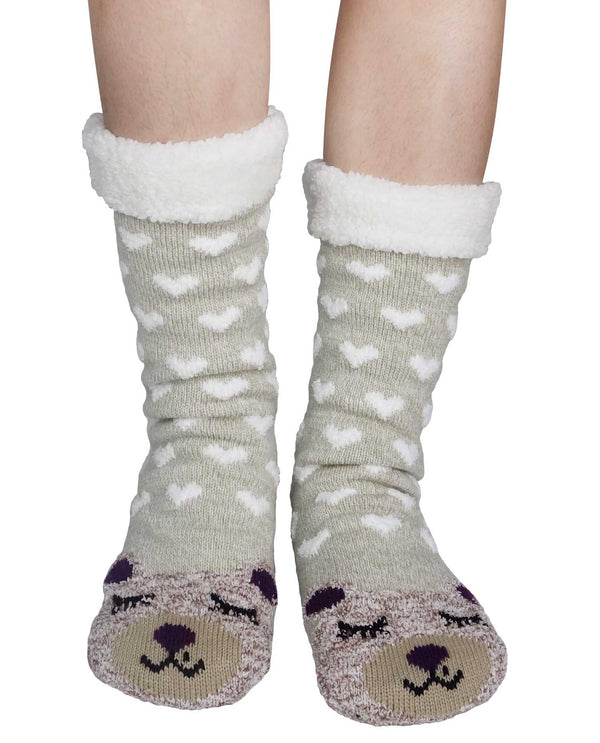 69274 Bear Thermal Slipper Sox