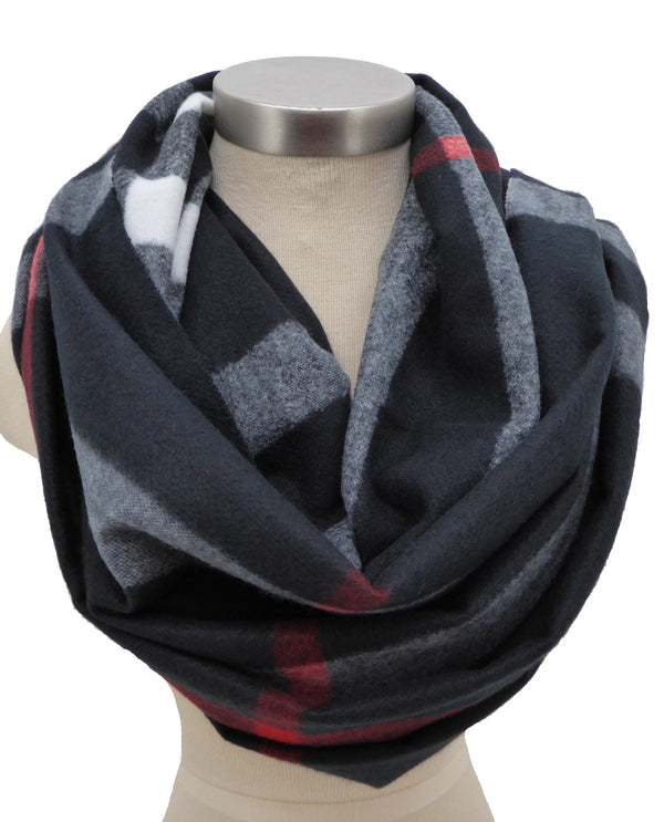 Black 1002 Plaid Cashmere Scarf