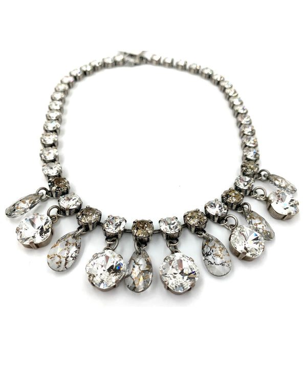 Rachel Marie Designs Fran Wreath Necklace  Clear