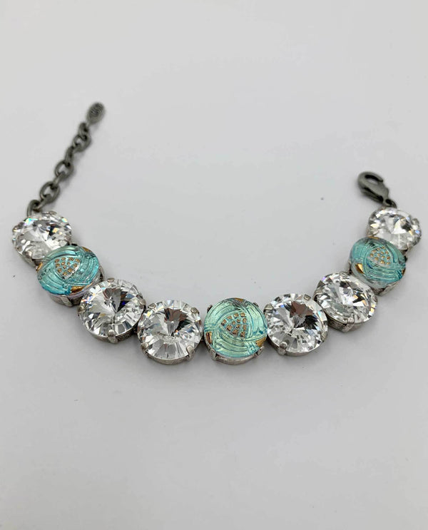 Czech Button Bracelet By Rachel Marie Designs clear