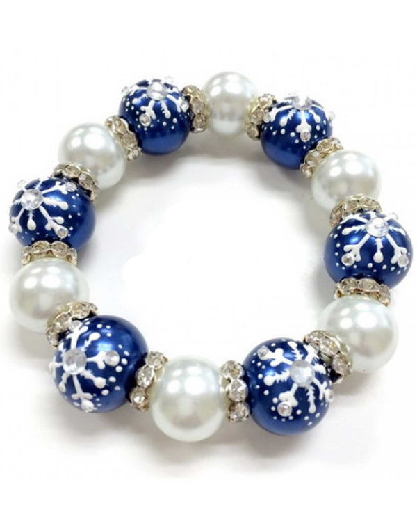 BR-2347 Blue Luxi Snowflake Bracelet With Snowflakes