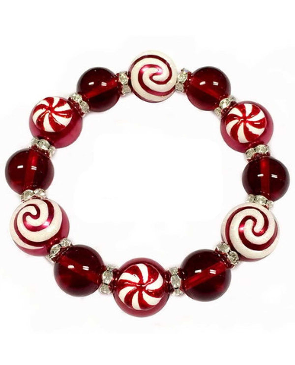 BR-2938 Christmas Peppermint Candy Bracelet