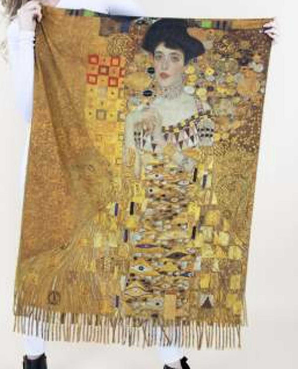 FS40519 Adele Scarf with painting by Gustav Klimt
