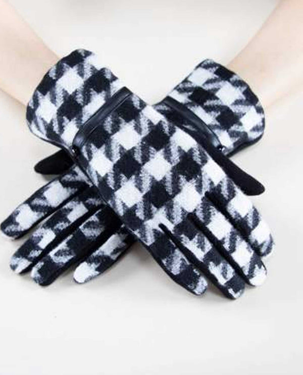 GL12274 Houndstooth Gloves