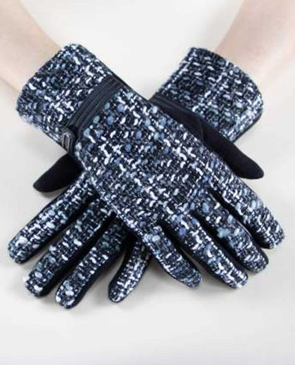 GL12272 Tweed Gloves for ladies