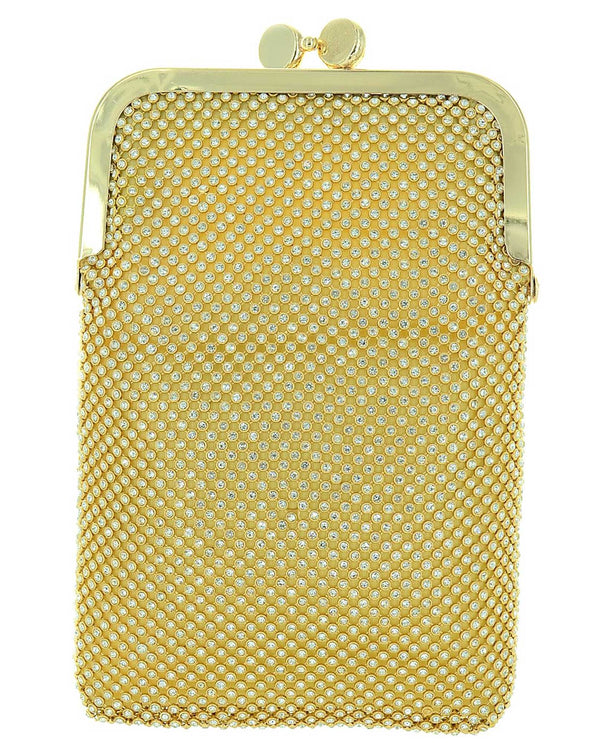 562561 Gold Mesh Evening Bag