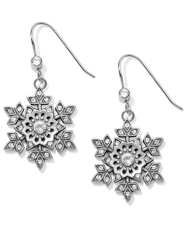 Brighton JA6161 Glint Snowflake French Wire Earrings