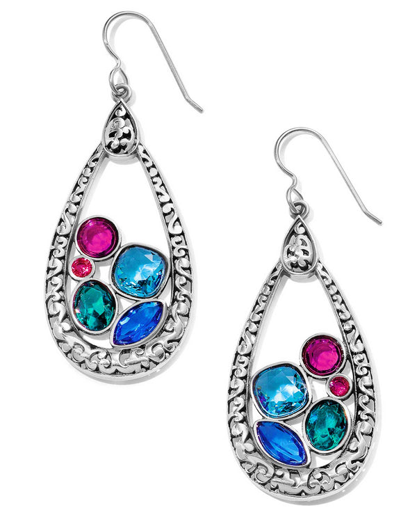Brighton JA5813 Elora Gems Vitrail Hoop French Wire Earrings