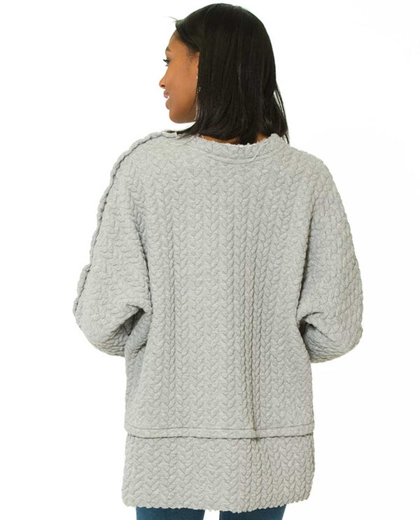 GFW548UOFM U Of M Sasha Tunic Heather Gray