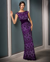 Eglt Jade Couture K188011 Boat Illusion Neck Lace purple lace mother of the bride gown