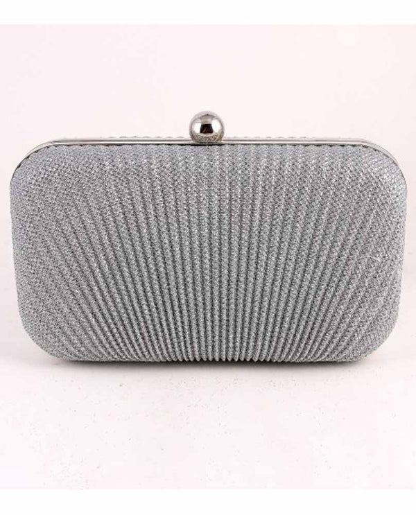 Silver Lurex Evening Clutch