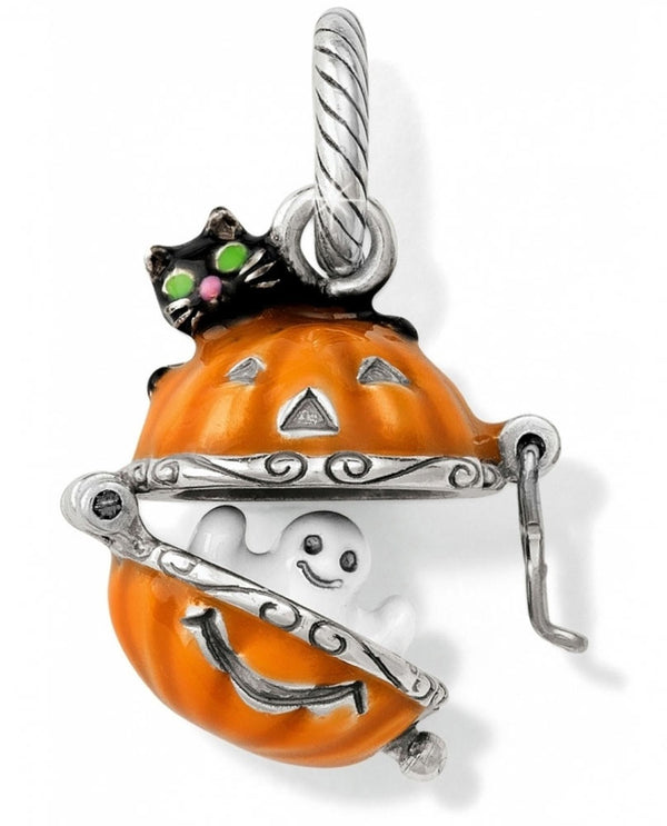 Brighton JC2433 Spooky Pumpkin Charm pumpkin charm with a ghost inside