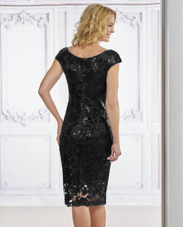 Jasmine M190013 Short Sequin Lace