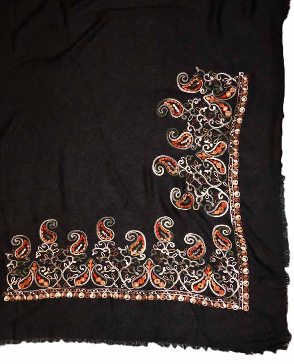 Paisley Embroidered Scarf