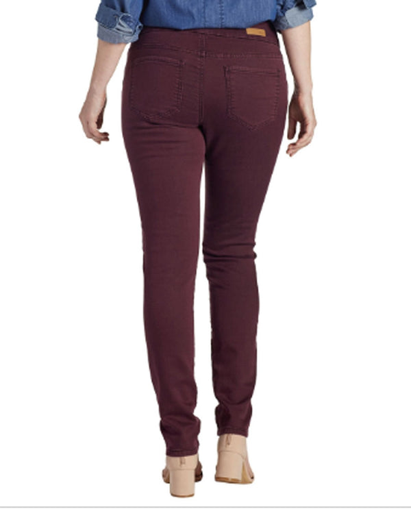 Jag J2112365PLNO Nora Skinny Jean in plum - back view
