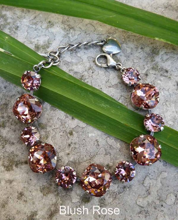 Blush Rose Laura Bracelet By Rachel Marie Designs