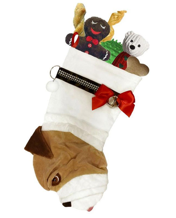 English Bulldog Stocking Treat Holder
