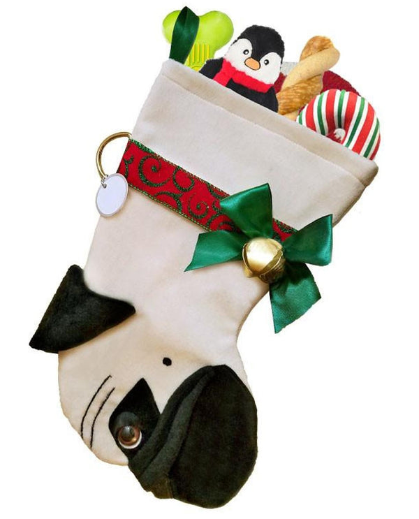 Pug Stocking Treat Holder