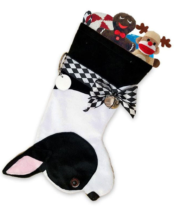 Boston Terrier Stocking Treat Holder
