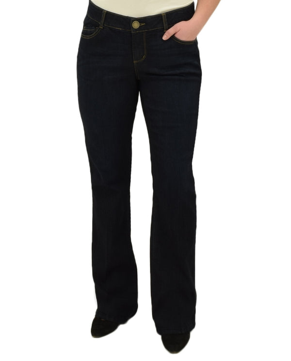 Democracy WBB1221EA Womens Boot Cut Jeans with classic five pocket styling