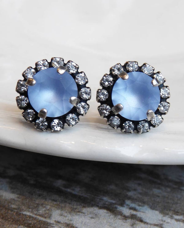 light sapphire Hadley Post Earrings By Rachel Marie Designs