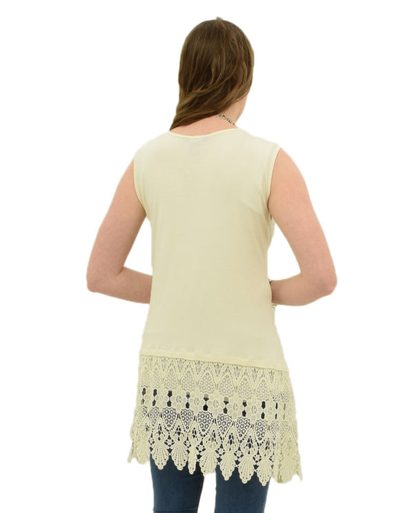 Vanilla Multiples M28104TW Womens Tank With Lace back view